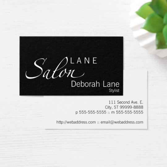 Salon Elegance Business Card