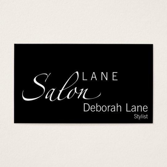 Salon Elegance Business Card