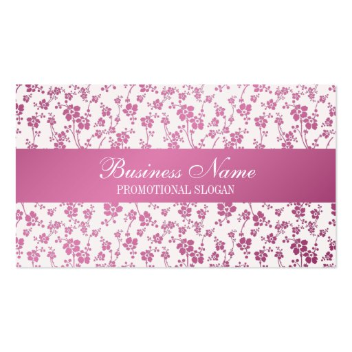 Salon Floral Pink Professional Business Cards