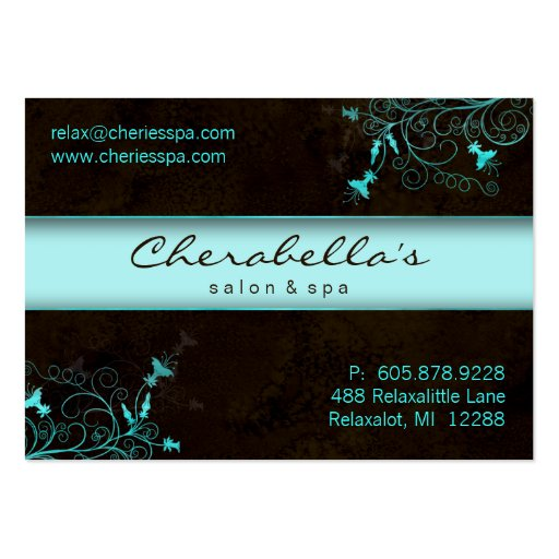 Create your own florist business cards page3 for Salon turquoise