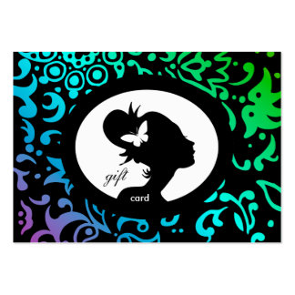 Salon Gift Card Butterfly Woman GBP Business Cards