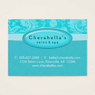 Salon Gift Card Certificate Spa Blue Damask