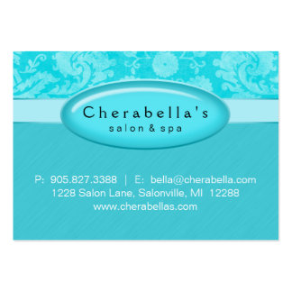 Salon Gift Card Certificate Spa Blue Damask Pack Of Chubby Business Cards