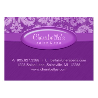 Salon Gift Card Certificate Spa Purple Damask Pack Of Chubby Business Cards