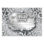 Salon Gift Card Jewellery Leopard Silver Crown Pack Of Chubby Business Cards