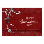 Salon Gift Card Spa Flower Floral Red Hearts Silve Pack Of Chubby Business Cards