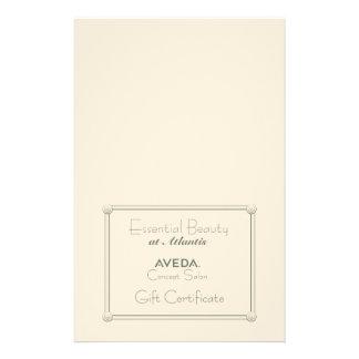Salon Gift Certificate (DIY Folding) 14 Cm X 21.5 Cm Flyer
