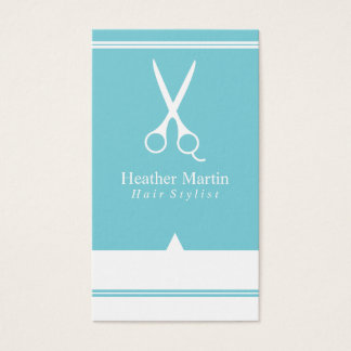 Salon Hair Stylist Appointment Cards Tiffany Blue
