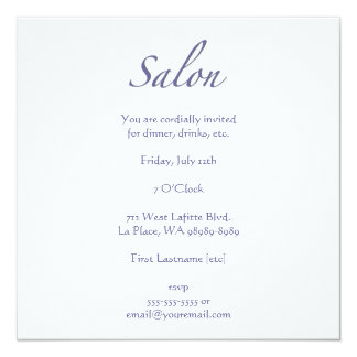 Salon Custom Invites