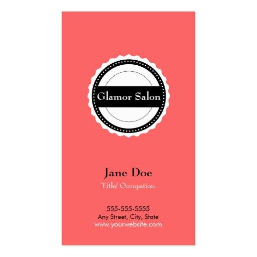 Salon Loyalty Business Card Punch Card