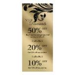 Salon Marketing Cards Jewellery Sparkle Black Gold Custom Rack Cards