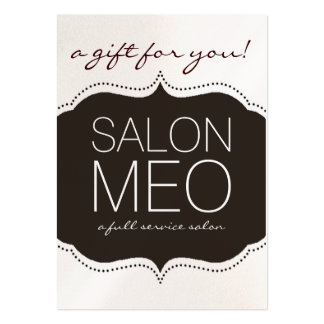 SALON MEO GIFT CARD PACK OF CHUBBY BUSINESS CARDS