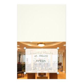Salon Photo Gift Certificate (DIY Folding) 14 Cm X 21.5 Cm Flyer