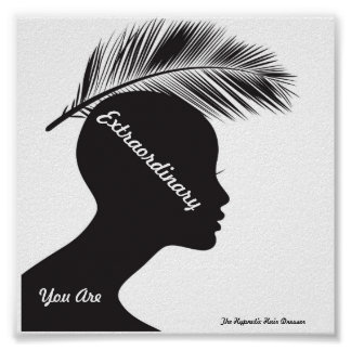 Salon Poster Priming Words Hypnotic Hair Dresser
