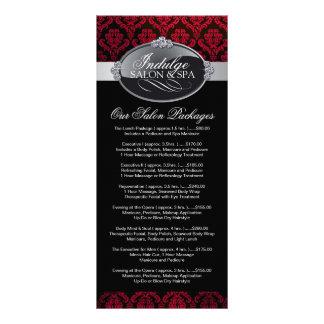 Salon Price List Rack Card