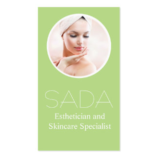 Salon & Spa Esthetician and Skincare Specialist Pack Of Standard Business Cards