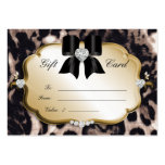 Salon Spa Gift Card Valentine Leopard Gold Black Pack Of Chubby Business Cards