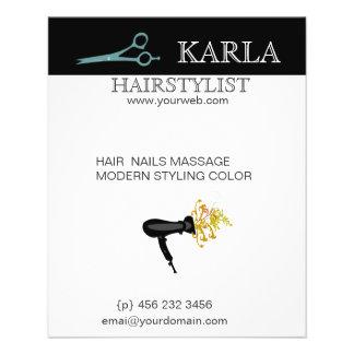 Salon Spa Hair Care Style HairDrier Flyer