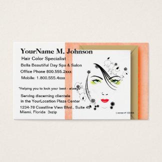Salon Spa Makeup and Hair Business Card