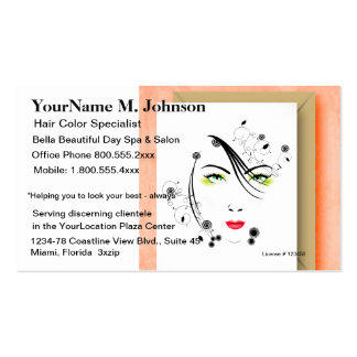Salon Spa Makeup and Hair Pack Of Standard Business Cards