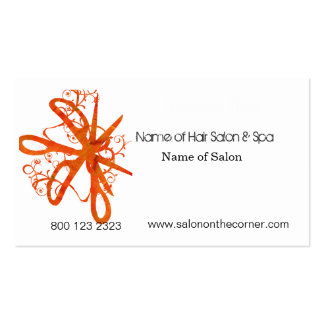Salon Spa Swirl Scissors Pack Of Standard Business Cards
