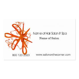 Salon Spa Swirl Scissors Pack Of Standard Business Cards