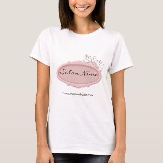 Salon Spa T Shirt Floral Pink White