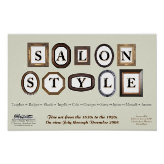 Salon Style exhibition poster