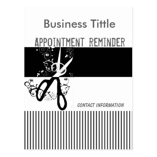 Salons & Spa Appointment Reminder Postcard