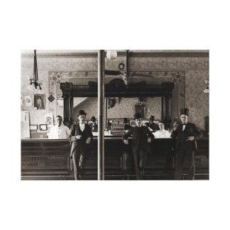 Saloon Bar Interior Men Man Cave 1890's Photo pub Canvas Print