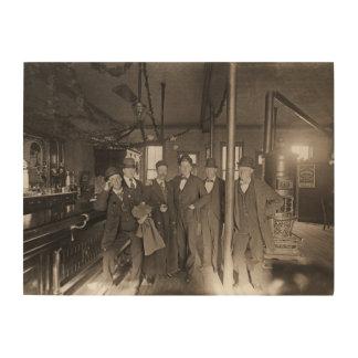 Saloon Bar Interior Men Man Cave 1890's Photo pub Wood Wall Art