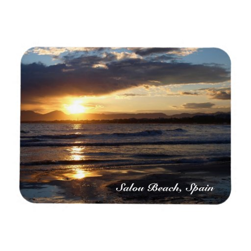 Salou Beach, Spain Flexible Magnet