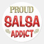 Salsa Addict Round Sticker