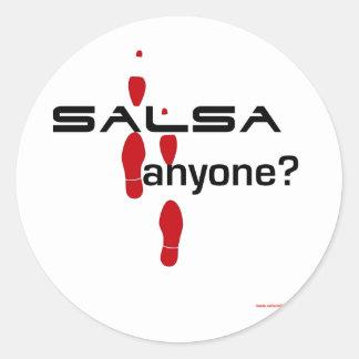 Salsa Anyone? Round Sticker