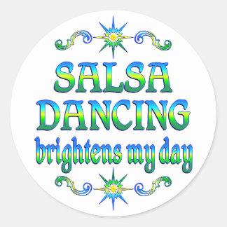 Salsa Brightens Round Sticker