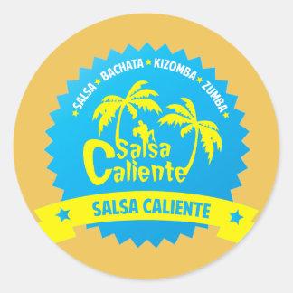 Salsa Caliente Round Sticker