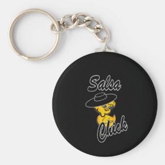Salsa Chick #4 Key Ring