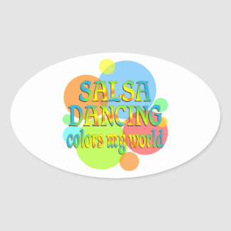 Salsa Colors My World Oval Stickers