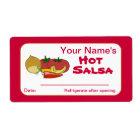 Salsa Custom Canning Jar Stickers Personalised