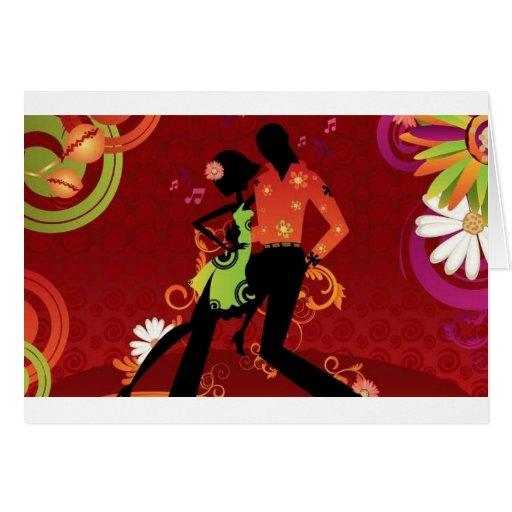 Salsa dance cards