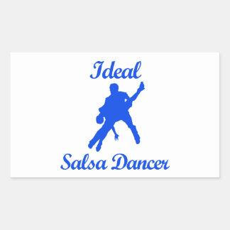 SALSA DANCE designs Rectangular Sticker