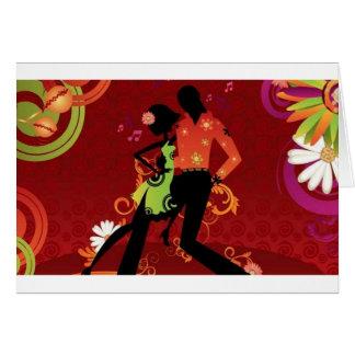 Salsa dance greeting card