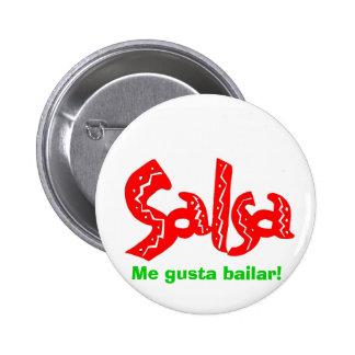 Salsa Dance Logo Pinback Buttons