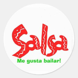 Salsa Dance Logo Products! Round Sticker