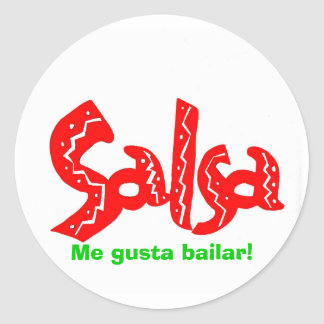Salsa Dance Logo Products! Classic Round Sticker