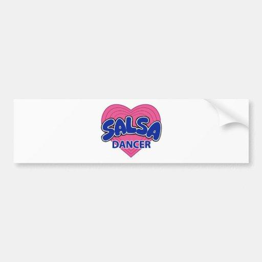 SALSA DANCER-3 BUMPER STICKERS