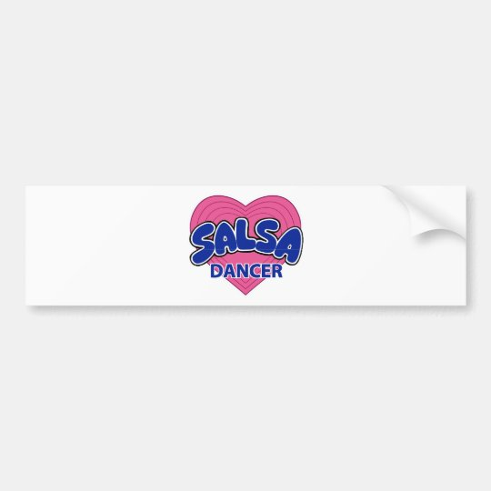 SALSA DANCER-3 BUMPER STICKER