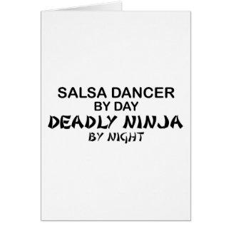 Salsa Dancer Deadly Ninja by Night Greeting Card