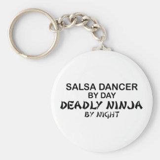 Salsa Dancer Deadly Ninja by Night Key Ring