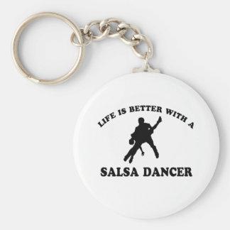 Salsa Dancer Designs Basic Round Button Key Ring